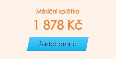 Prvním krokem žádosti je kliknutí na modré tlačítko Žádat online.