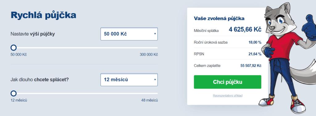 Sjednání Smart půjčky probíhá prostřednictvím kalkulačky na webových stránkách smartpujcka.cz