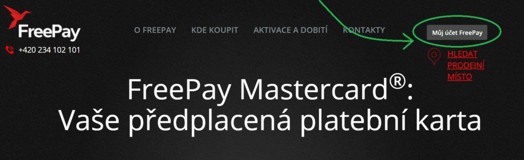 Registraci a přihlášení do aplikace FreePay lze provést na webu freepay.cz.