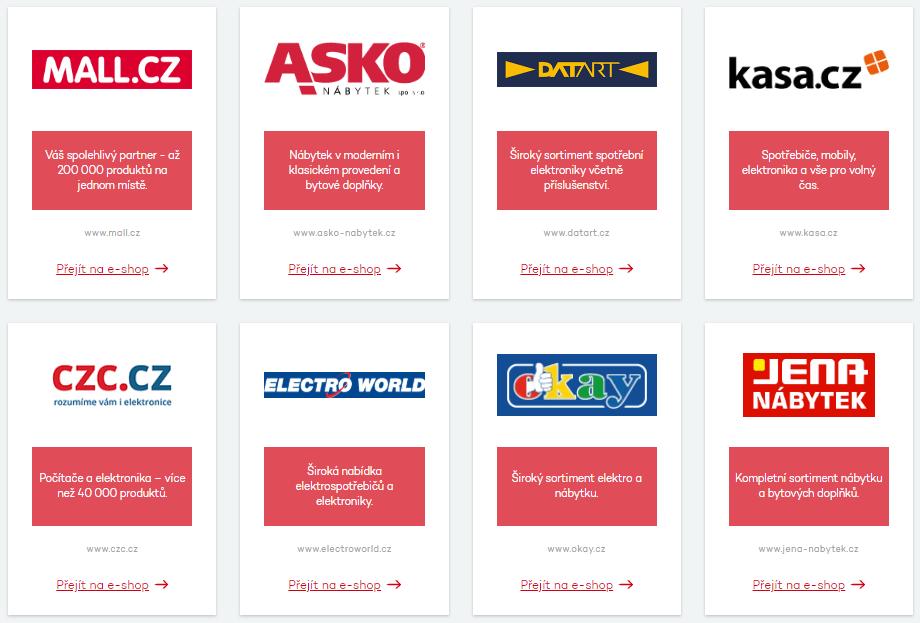 Nakoupit na splátky je možné například v e-shopech Mall.cz, Datart nebo Electro World. Kompletní seznam prodejců lze nalézt na webu společnosti Home Credit.
