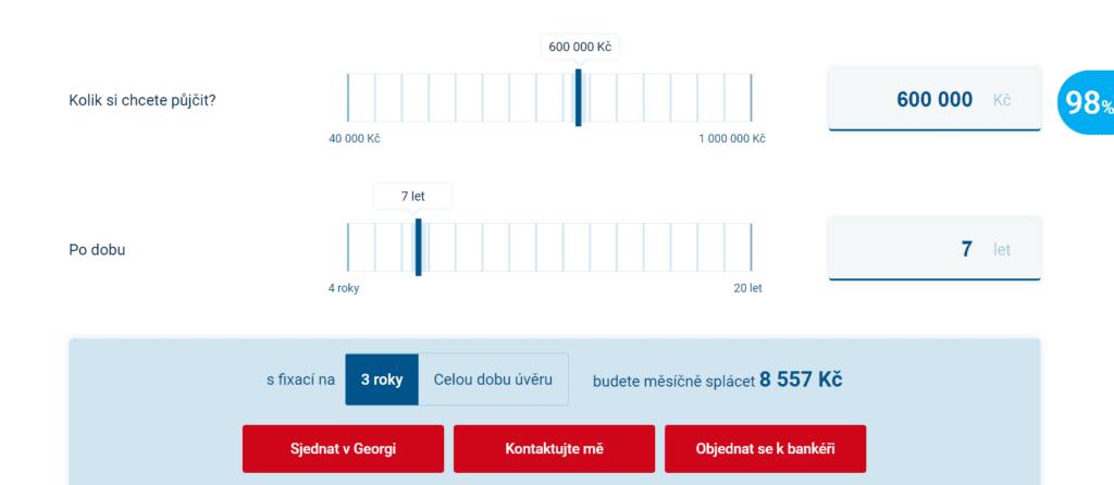 Výši měsíčních splátek si lze orientačně spočítat v kalkulačce na webu Burinka.cz.