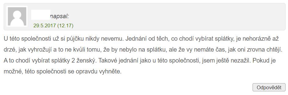 Recenze Fair Credit na webu pujcko.cz.